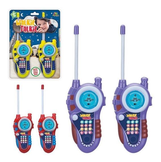 Walkie Talkie Infantil Colors Brinquedo Radio Comunicador
