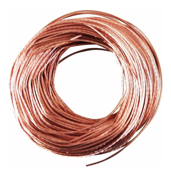 Cable De Cobre Desnudo Semiduro Calibre 10 Iusa Caja 100 Mts