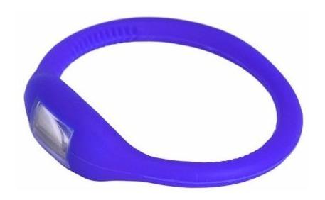 Relógio Bracelete Led Digital Sport Silicone Azul-rel
