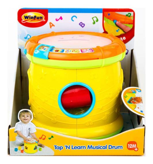 Brinquedo Tambor Abc Musical Com Luz 713-55 Winfun
