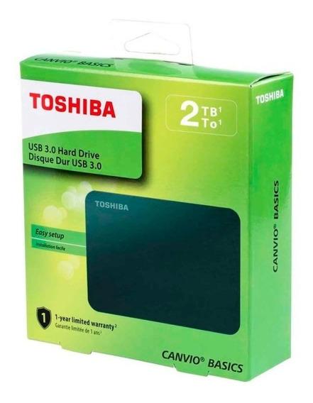 Disco Duro Externo Toshiba Canvio Basics Portátil 2tb 3.0 A3