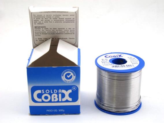 Solda Estanho Cobix Azul 500 Gr 60x40 Fio 1,0mm