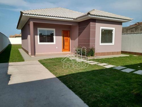 Casa Com 3 Dormitórios À Venda, 100 M² Por R$ 470.000,00 - Jardim Atlântico Central (itaipuaçu) - Maricá/rj - Ca1791