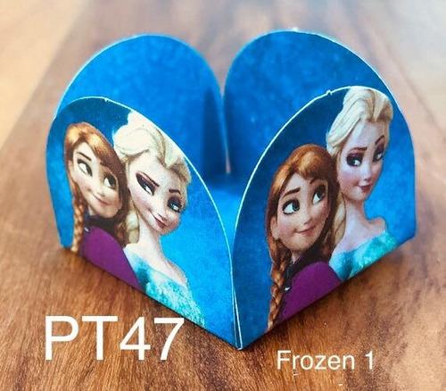 Imagem 1 de 11 de 100 Forminhas Para Doces Tema Elsa E Frozen 1 Brigadeiro