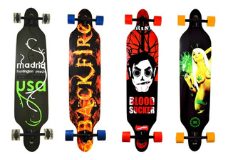 Skate Longboard Truck Blindado Invertido Abec 15