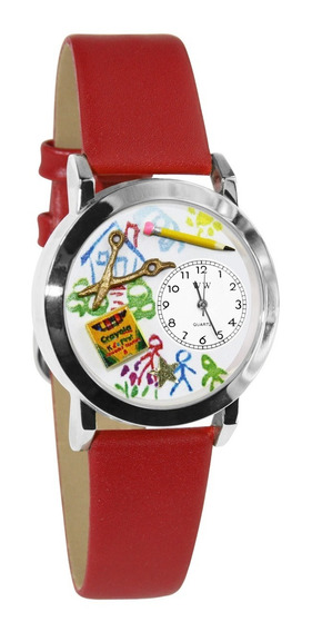 Maestra De Preescolar Pequeño Reloj De Plata De Estilo