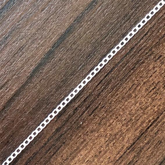 Pulseira Groumet Com 21cm Em Prata 925 - Frete Grátis