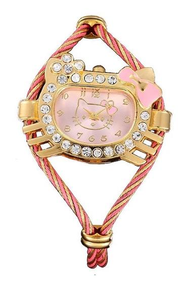 Reloj Hello Kitty Brillantes Total Largo: 13.5 Cms.