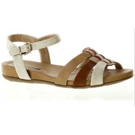 Sandalia Comfortflex 1559403 - Bege - Delabela Calçados