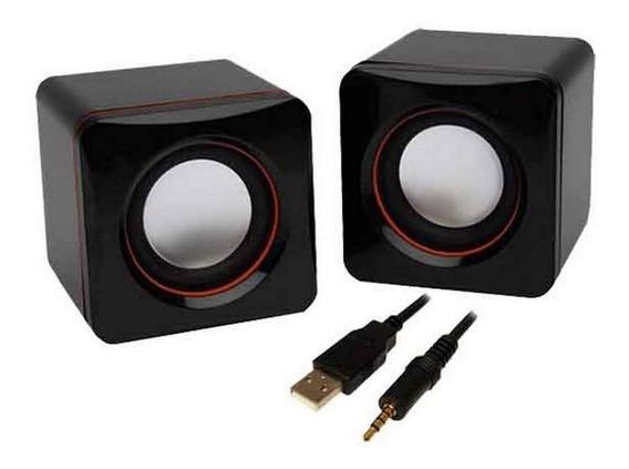 Caixinha De Som Pc Speaker Usb E P2 2 Polegadas (o Par)