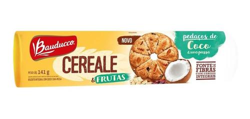 Biscoito Cereale & Frutas Coco E Uva Passa Bauducco 141g