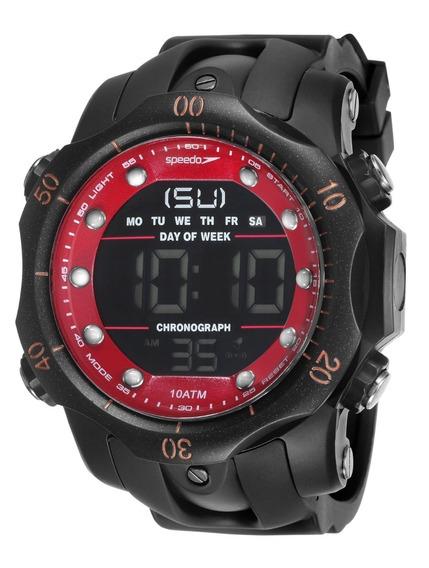 Relógio Speedo Masculino Digital Preto Big Case Original