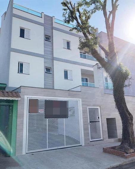 Cobertura Com 3 Dormitórios À Venda, 138 M² Por R$ 439.000,00 - Vila Pires - Santo André/sp - Co0661