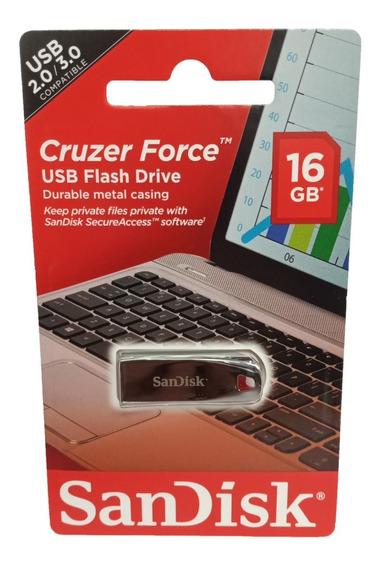 Pendrive Sandisk 16gb Cruzer Force 16 Gb 2.0 Original Sellad