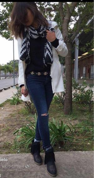 Botas Texanas Dallas Semi Cuero Mujer Talle 38. Súper Sale!