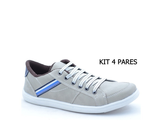 Sapatenis Masculino Dex Kit 4 Pares