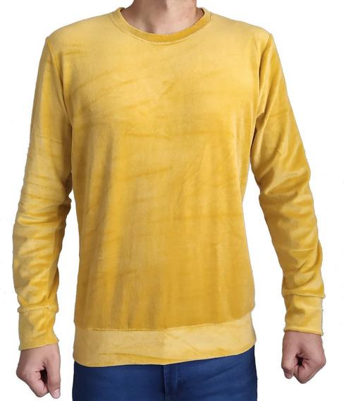 Pack X 2 Buzo Plush Hombre Liso Cuello Redondo
