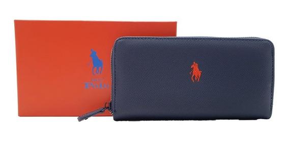 Cartera Hpc Polo Logo Bordado Azul Marino