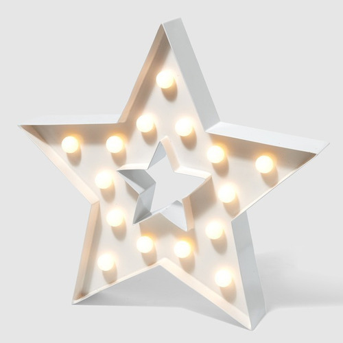 Lampara Veladora Estrella Grande Portátil A Pilas Oferta