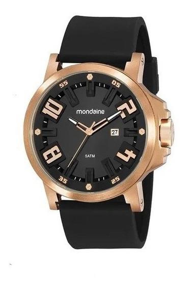 Relógio Mondaine Visor 3d Silicone Preto 99453gpmvri2