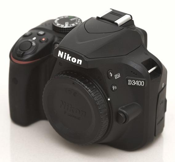 Nikon D3400 24mp Dx Corpo Camera Profissional Usada