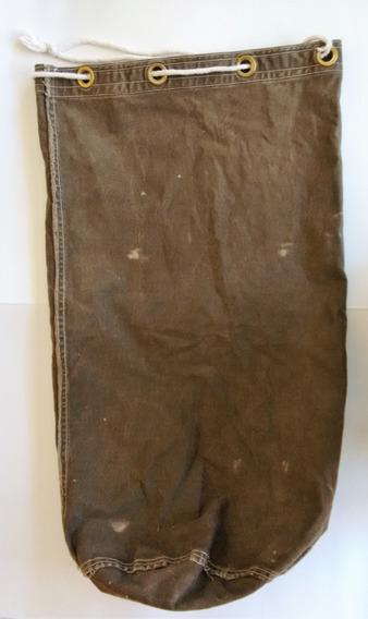 Antigua Tula Militar En Lona Verde Leer Descripción