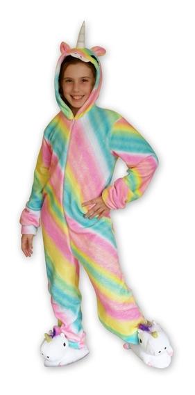 Pijama Kigurumi Unicornio Degrade Multicolor Niñas Y Damas