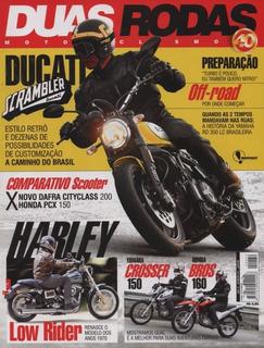 Duas Rodas N°472 Ducati Scrambler Yamaha Crosser Honda Bros