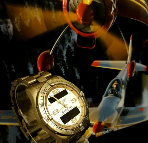 Relogio Breitling Aerospace Avantage 42 Mm Todo Titânio