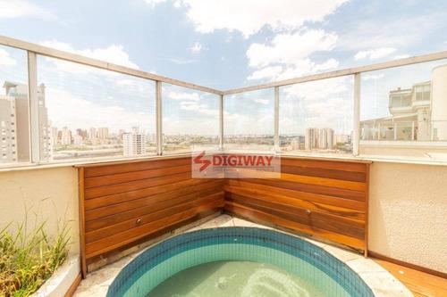 Cobertura Com 4 Dormitórios À Venda, 134 M² Por R$ 959.000,00 - Ipiranga - São Paulo/sp - Co0055