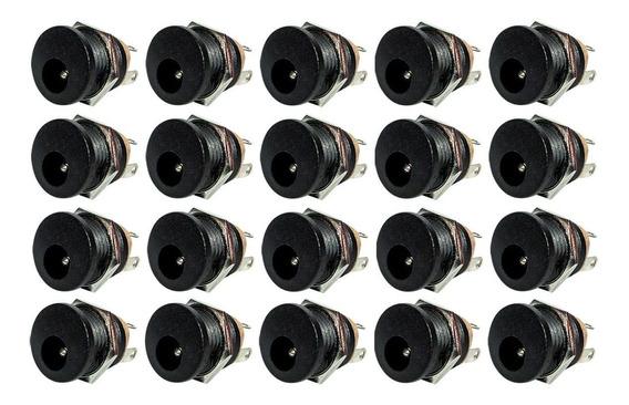 Conector Plug Jack P4 Fêmea J4 Pedal Pedais - 20 Peças
