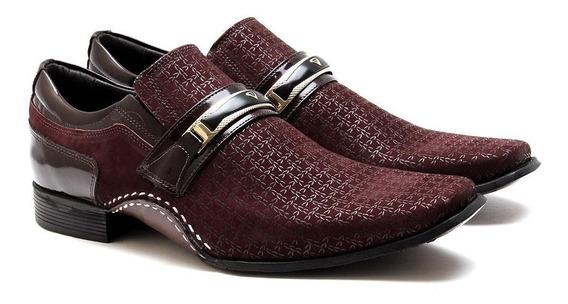 Sapato Social Masculino Calvest 1930b592 ¿ Bordô