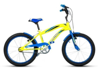 Bicicleta Crossboy R20 Top Mega Amarillo Azul // Global S