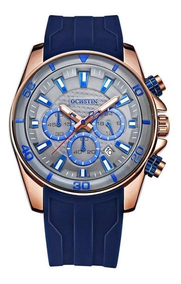 Relógio Ochstin Azul Pronta Entrega Frete Grátis Sem Bateria