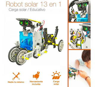 Kit Robot Solar Armable 13 En 1 Juguete Educativo