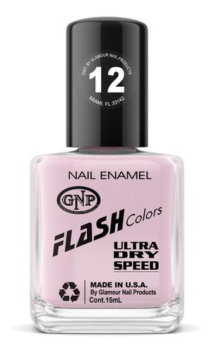 Imagen 1 de 4 de Esmalte Flash Colors De Gnp 15ml Nro.12