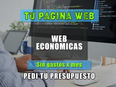 Pagina Web Economicas Y Diseño Web Tiendas Autoadministrable