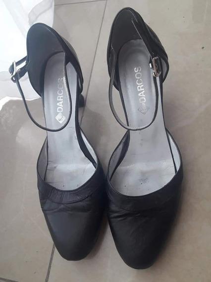 Zapatos De Tango N°40 Cuero Marca Darcos