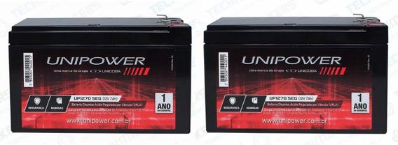 2 Bateria 12v 7ah Selada Centrais Alarme Nobreak Iluminacão