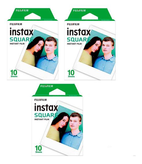 Combo 30 Filmes Instax Square Fujifilm Sq10