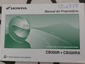 Manual Do Proprietário Honda Cb300r E Cb300ra (c/abs)