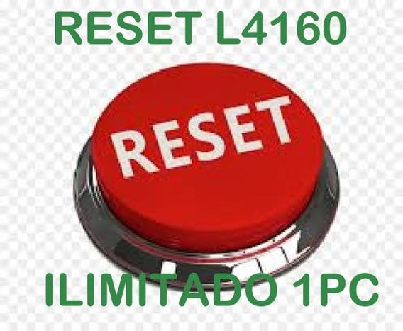 Reset Epson L4150 L4160 Ilimitado Sem Tempo Registrado 1pc
