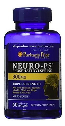Puritan's Pride Neuro-ps 300 Mg (fosfatidilserina) -60 Cápsu