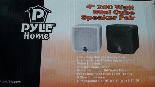 Parlantes. Pyle Home Mini Cube 4 Pulgadas 200 Watts. Nuevos