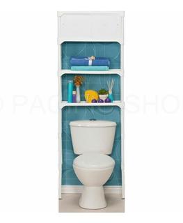 Organizador Mueble Cisterna Con Gabinete Para Baño