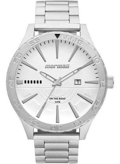 Relógio Mormaii Masculino Analógico Prata Mo2115aw/3k