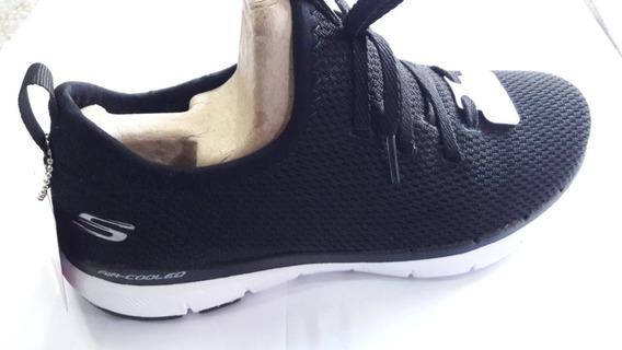 Zapatillas Skechers Flex Appeal 3.0 W 13066 Bkw Envíos País