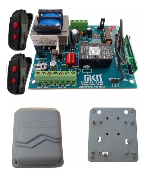 Kit Central Tampa Base E 2 Controles Do Bv Gatter 3020 Fast
