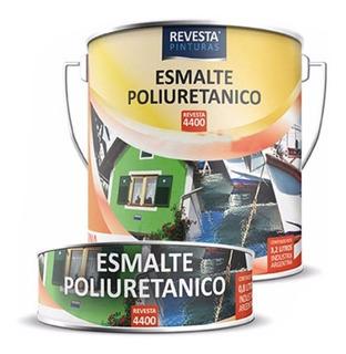 Pintura Nautica Poliuretano Revesta 4400 Bco Color Barco 1lt