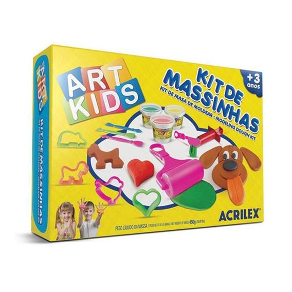 Kit De Massinha 4 450g Acrilex Art Kids Cars